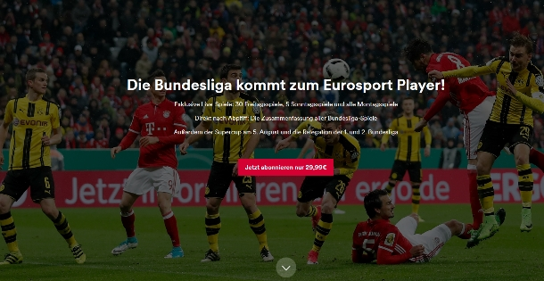 Eurosport Player für Gastronomen