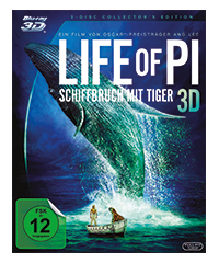 Life of Pi - Schiffbruch mit Tiger (3D-Blu-ray)