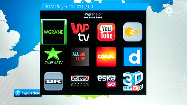 Screen Gigablu Open Mips IPTV Player