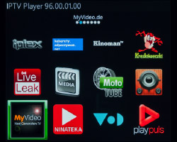 Screenshot: IPTV Player